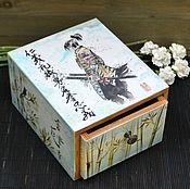 Для дома и интерьера ручной работы. Ярмарка Мастеров - ручная работа Шкатулка Самурай. Handmade.
