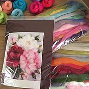 Картины и панно handmade. Livemaster - original item Sets of wool to create paintings. Handmade.