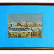 Картины и панно ручной работы. Ярмарка Мастеров - ручная работа Питерские крыши. Handmade.