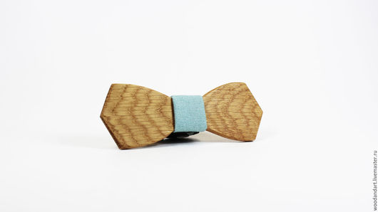 Галстуки, бабочки ручной работы. Ярмарка Мастеров - ручная работа. Купить Деревянная галстук- бабочка. Handmade. Голубой, креатив, весна