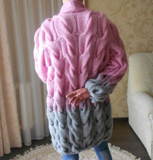 Верхняя одежда ручной работы. Ярмарка Мастеров - ручная работа. Купить Готовый Кардиган или пальто из ангоры. Вязаный кардиган. Handmade.