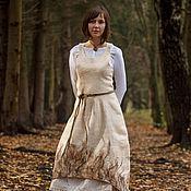 Платья ручной работы. Ярмарка Мастеров - ручная работа Авторское платье миди, стильное платье баллон, сарафан бохо Мурава. Handmade.