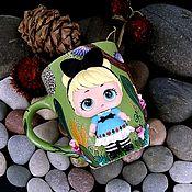 Посуда handmade. Livemaster - original item Mug with polymer clay decor-Doll LOL Surprise-Alice. Handmade.