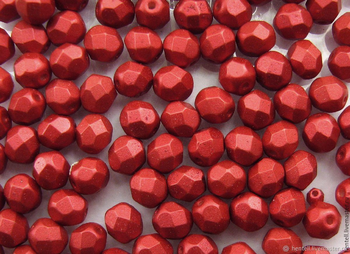 Бусины металлик гранёные 6 мм. (10 шт.), Бусины, Химки,  Фото №1