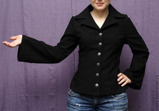 Верхняя одежда ручной работы. Ярмарка Мастеров - ручная работа. Купить Легкая курточка-жакет. Handmade. Куртка, фурнитура