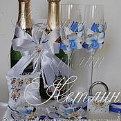 Свадебный салон ручной работы. Ярмарка Мастеров - ручная работа Комплект аксессуаров в морском стиле с орхидеей. Handmade.