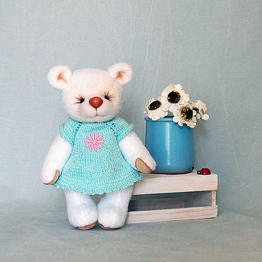 Куклы и игрушки ручной работы. Ярмарка Мастеров - ручная работа Белая мишутка. Handmade.
