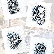 Картины и панно ручной работы. Ярмарка Мастеров - ручная работа Уголки набережной. Handmade.