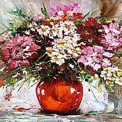 Картины и панно handmade. Livemaster - original item oil painting Bouquet. Handmade.