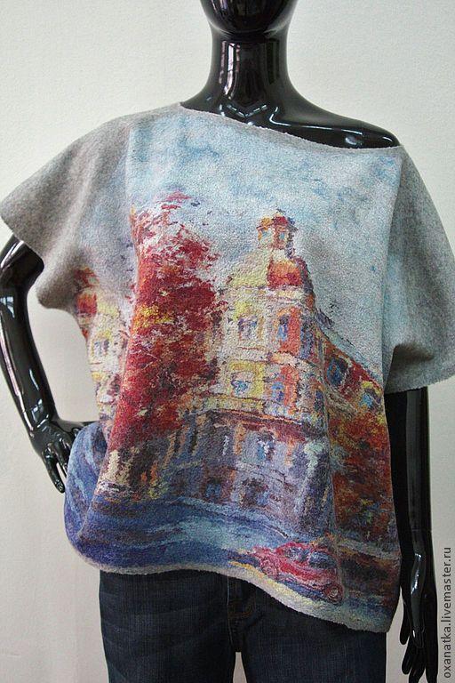 Кофты и свитера ручной работы. Ярмарка Мастеров - ручная работа. Купить Валяный свитер Римские каникулы. Handmade. Серый