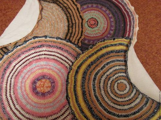 """Текстиль, ковры ручной работы. Ярмарка Мастеров - ручная работа. Купить Коврики """"Цветность"""". Handmade. Комбинированный, крючком"""