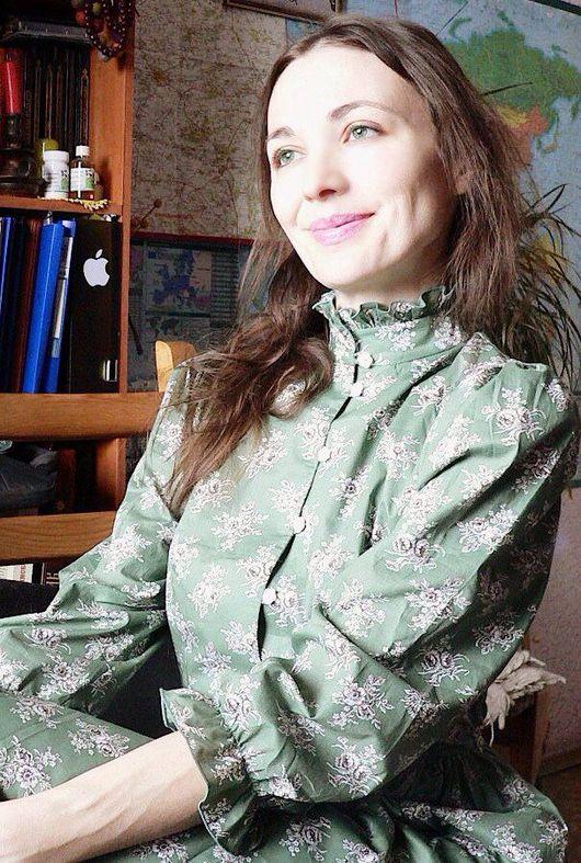 """Платья ручной работы. Ярмарка Мастеров - ручная работа. Купить Платье макси """"Веста"""". Handmade. Зеленый, Платье нарядное, vip"""