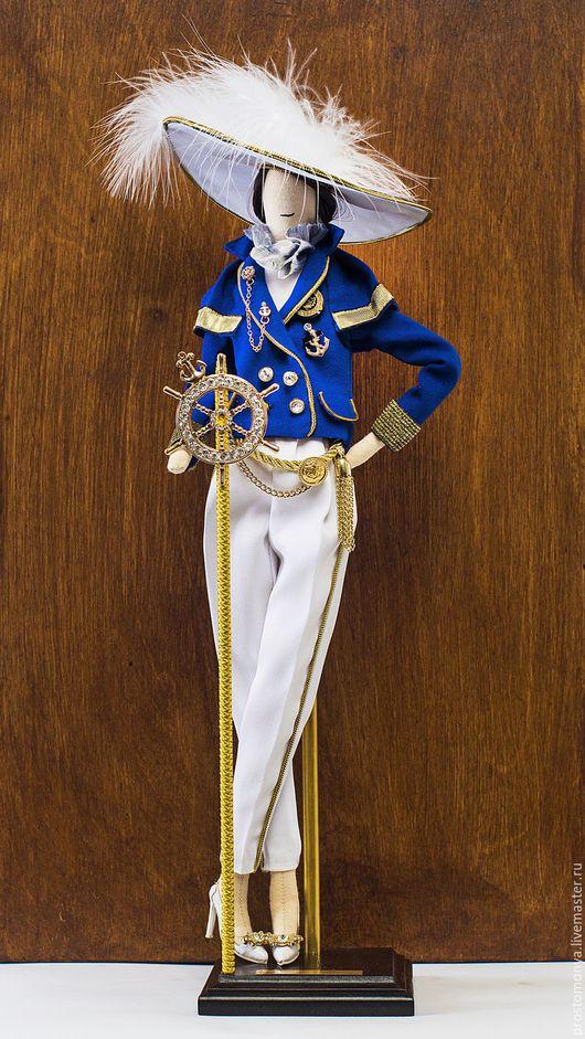 Коллекционные куклы ручной работы. Ярмарка Мастеров - ручная работа. Купить Dolce vita. Handmade. Тёмно-синий, смесовые материалы