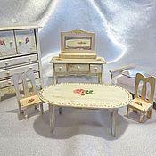 """Куклы и игрушки ручной работы. Ярмарка Мастеров - ручная работа Кукольный набор мебели """"Шебби"""" 6 предметов. Handmade."""