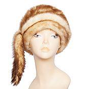 Аксессуары handmade. Livemaster - original item Cap made of natural mink fur, decorated with tails on the side. Handmade.