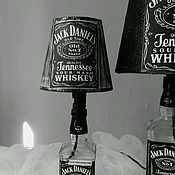 """Для дома и интерьера ручной работы. Ярмарка Мастеров - ручная работа Лампа из бутылки виски """"Jack Daniels"""". Handmade."""