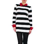 Одежда ручной работы. Ярмарка Мастеров - ручная работа Платье свитер Платье в полоску Теплое платье Платье рубашка. Handmade.