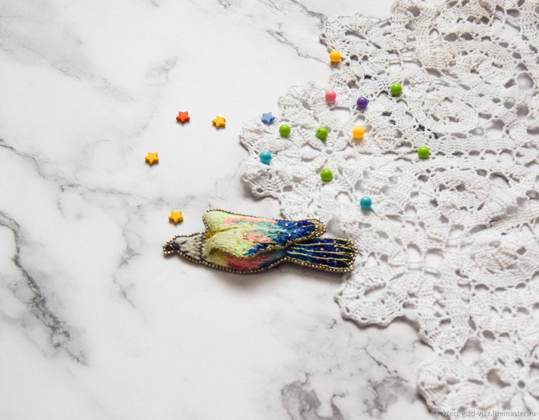Парящий радужный орел, Брошь-булавка, Оренбург,  Фото №1