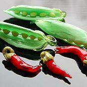 Украшения ручной работы. Ярмарка Мастеров - ручная работа Зеленый горошек и перец. Handmade.