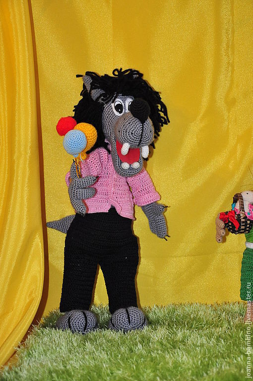 """Сказочные персонажи ручной работы. Ярмарка Мастеров - ручная работа. Купить волк из мультфильма """"Ну, погоди!"""". Handmade. Волк"""