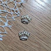 Материалы для творчества handmade. Livemaster - original item !Scrapbooking. Decor,brooch with pearl, Crown with pearls. Handmade.