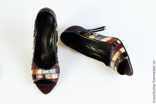 """Обувь ручной работы. Ярмарка Мастеров - ручная работа. Купить Туфли """"Осенние"""". Handmade. Обувь ручной работы, дизайнерская обувь"""