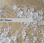 Материалы для творчества handmade. Livemaster - original item Amazing 3D lace with beads, Madeleine. Handmade.