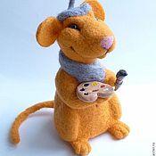 Куклы и игрушки ручной работы. Ярмарка Мастеров - ручная работа Мышонок-художник. Handmade.
