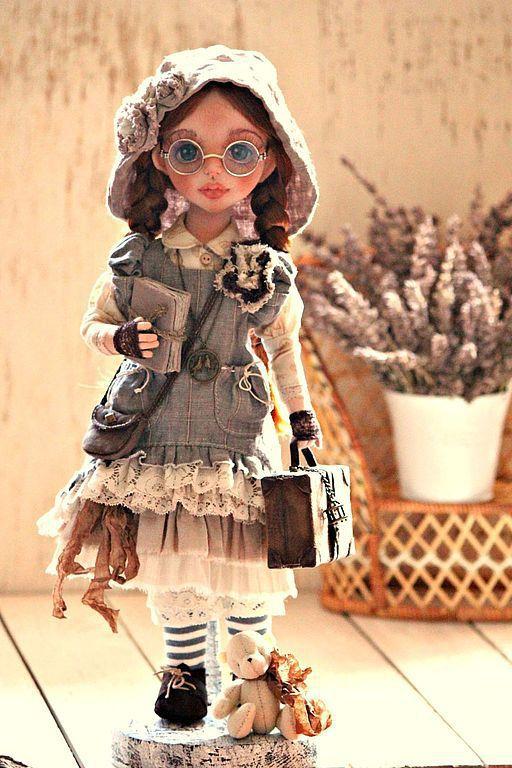Коллекционные куклы ручной работы. Ярмарка Мастеров - ручная работа. Купить Betsy. Handmade. Коричневый, авторская ручная работа