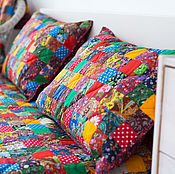 Для дома и интерьера handmade. Livemaster - original item Patchwork pillow case. Handmade.