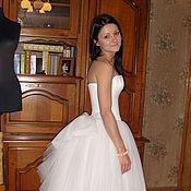 Одежда ручной работы. Ярмарка Мастеров - ручная работа РОСКОШНОЕ белое свадебное платье. Handmade.