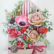 Картины и панно handmade. Livemaster - original item Pink envelope. Handmade.
