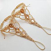 Свадебный салон ручной работы. Ярмарка Мастеров - ручная работа Свадебные слейв-браслеты на ножки. Handmade.
