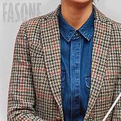 Пиджаки ручной работы. Ярмарка Мастеров - ручная работа Пиджаки: Женский пиджак из твида Harris 100% шерсть. Handmade.
