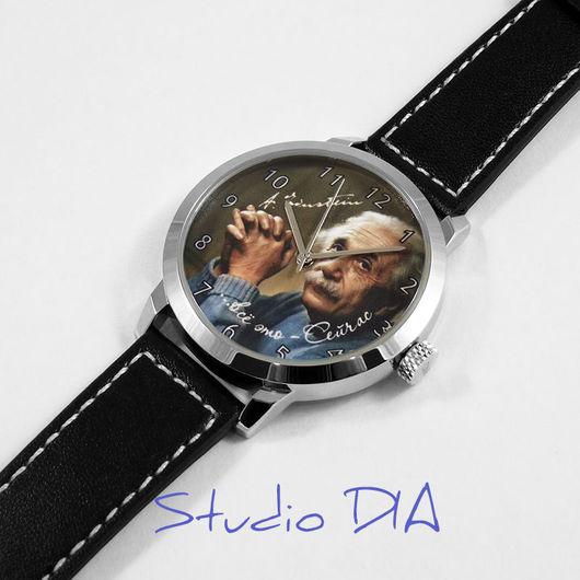 Часы Под Заказ - Альберт Эйнштейн. Студия Дизайнерских Часов DIA.