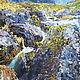 Заказать Картина масляными красками водопад. Ренат Сербин. Ярмарка Мастеров. . КартиныФото №3