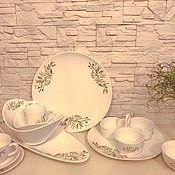 Сервизы ручной работы. Ярмарка Мастеров - ручная работа Столовый сервиз Ветви оливы. Handmade.