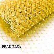 Материалы для творчества ручной работы. Ярмарка Мастеров - ручная работа Вуаль для шляп Желтый. Handmade.