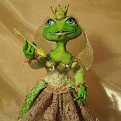 """Куклы и игрушки ручной работы. Ярмарка Мастеров - ручная работа Царевна-лягушка """"Я жду тебя, мой принц"""" (сделана на заказ). Handmade."""