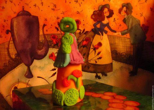 Статуэтки ручной работы. Ярмарка Мастеров - ручная работа. Купить Домик феи. Handmade. Рыжий, сказочный, зеленый