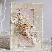 Свадебный салон ручной работы. Ярмарка Мастеров - ручная работа Бежевое шебби с розой. Handmade.