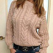 Одежда ручной работы. Ярмарка Мастеров - ручная работа свитер с косами. Handmade.
