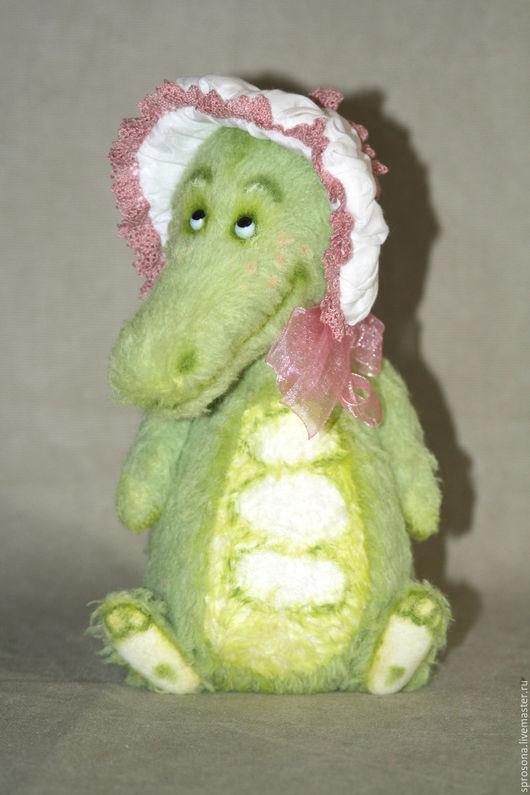 Мишки Тедди ручной работы. Ярмарка Мастеров - ручная работа. Купить Зеленый крокодил. Handmade. Салатовый, кроко, металлический гранулят