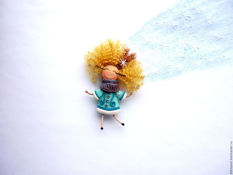 brooch girl `I`m a snowflake`