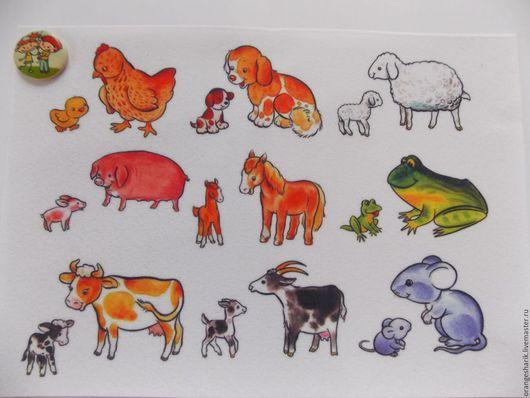 Другие виды рукоделия ручной работы. Ярмарка Мастеров - ручная работа. Купить Фетр корейский с рисунком Животные и детёныши. Handmade.