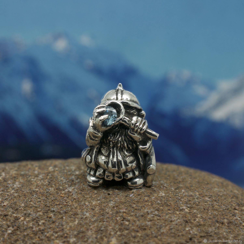 "All for Jewelry Making handmade. Livemaster - handmade. Buy Бусина ""Гном с лупой"".Fantasy, fairytale"