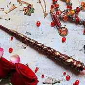 Субкультуры handmade. Livemaster - original item The author`s Magic wand Harry Potter red Gryffindor. Handmade.