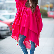 Одежда handmade. Livemaster - original item Blouse, blouse tunic, Summer tunic, Tunic. Handmade.