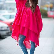 Одежда handmade. Livemaster - original item Summer, stylish tunic boxy - TU0425CT. Handmade.