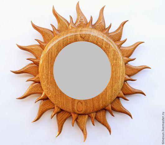 """Зеркала ручной работы. Ярмарка Мастеров - ручная работа. Купить Зеркало """"Солнце"""". Handmade. Коричневый, зеркало, зеркало ручной работы"""